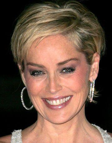 Elegant Sharon Stone Hairstyle Coiffeur