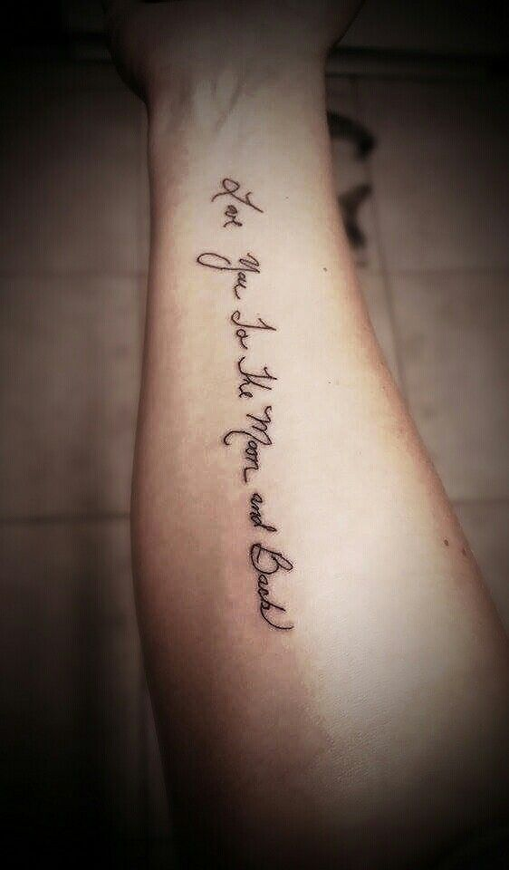My mom\'s handwriting with our favorite quote \