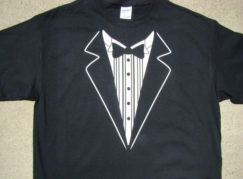 Wedding Tshirt Mens size Tux shirt Groom, Groomsmen2X