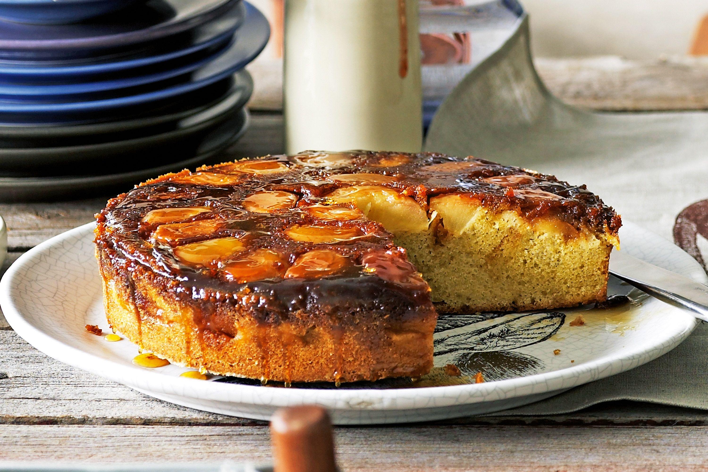 Caramel and apple upsidedown cake tea cakes recipes