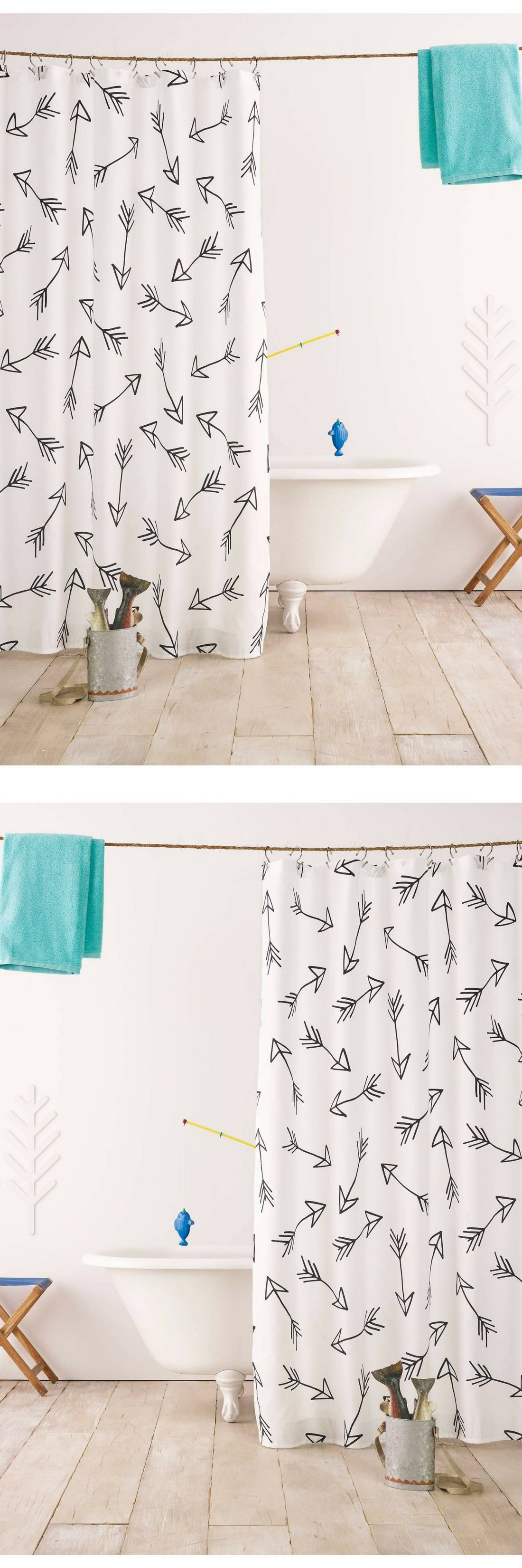 Instantly update your bathroom with the pillowfort black arrow