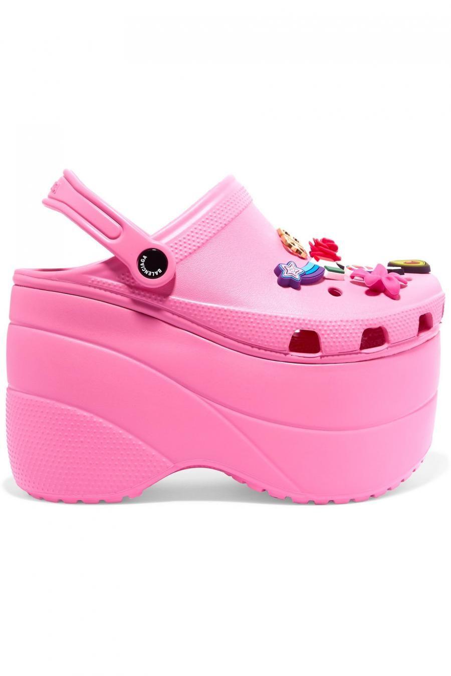 Crocs, Platform sandals, Pink crocs