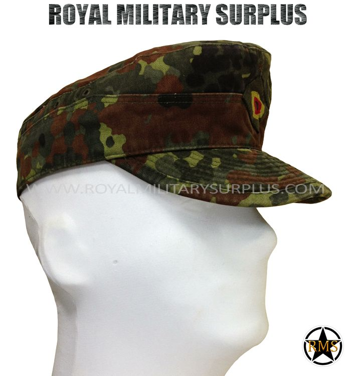 Patrol Cap - Bundeswehr - FLECKTARN (Woodland) - 10.95$ (CAD) - FLECKTARN (Woodland) German Army Camouflage Pattern - 5 Colors Bundeswehr Issue Patrol cap Original/Military Specifications Patrol Cap Design (Army/Military/Special Forces) 100% Military Cotton USED - Grade 1 (Good Condition) Available Sizes : S - M - L WWW.ROYALMILITARYSURPLUS.COM
