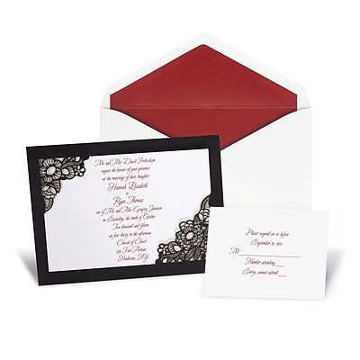 17 Best images about Black Lace Wedding – Black Lace Wedding Invitations