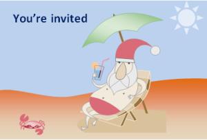 Merry Christmas Invitation Card At Word Documents Com Microsoft