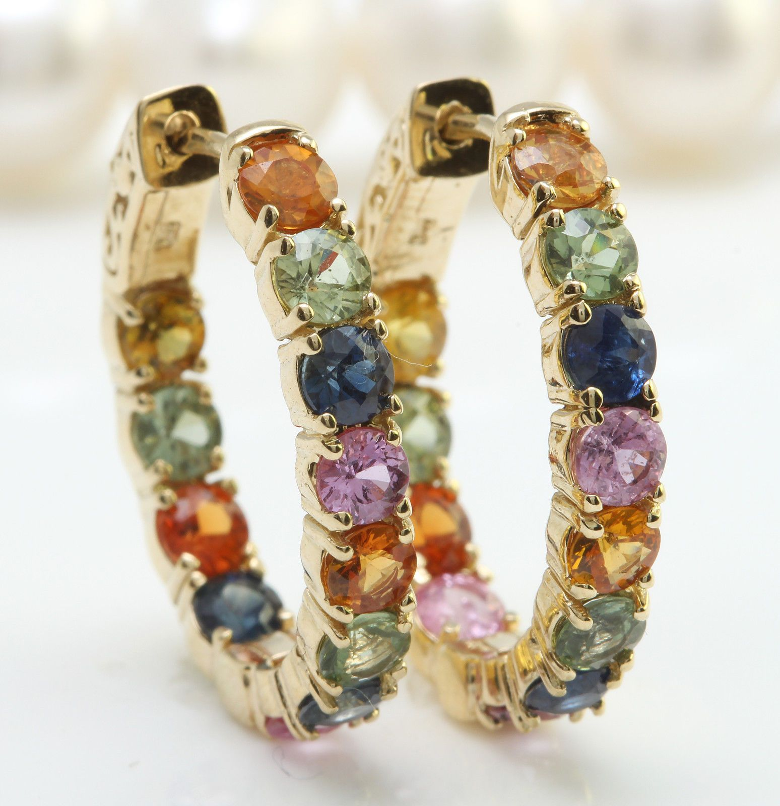 6.00CTW Natural Ceylon Multi-Color Sapphire in 14K Yellow Gold Women Earrings https://t.co/HTEHQjzts3 https://t.co/ijY3Qd74vH