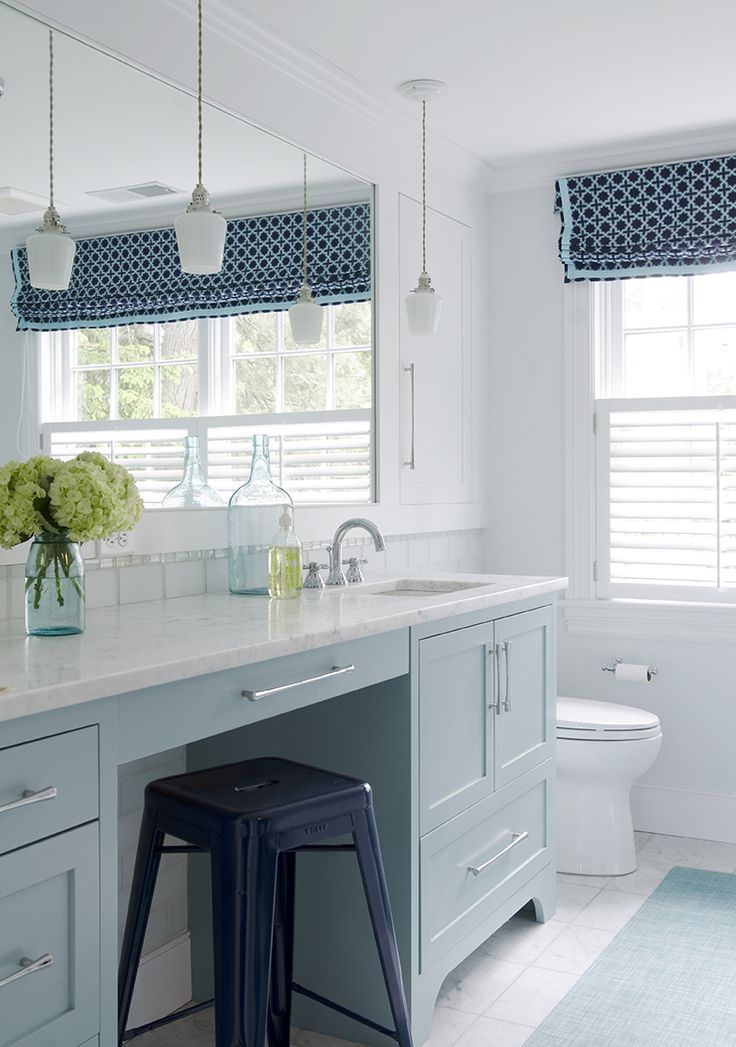 stool, blue, white @kristinacrestindesign