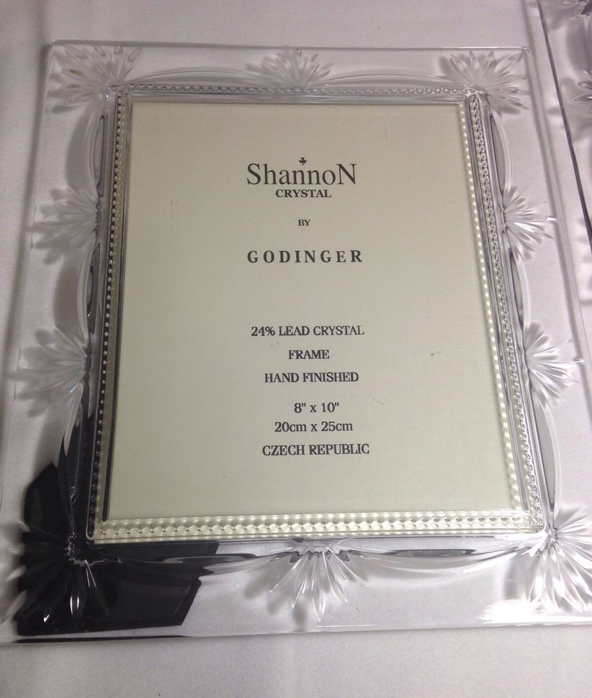 Shannon crystal by godinger picture frames 8 x 10 lot of 2 jeuxipadfo Image collections