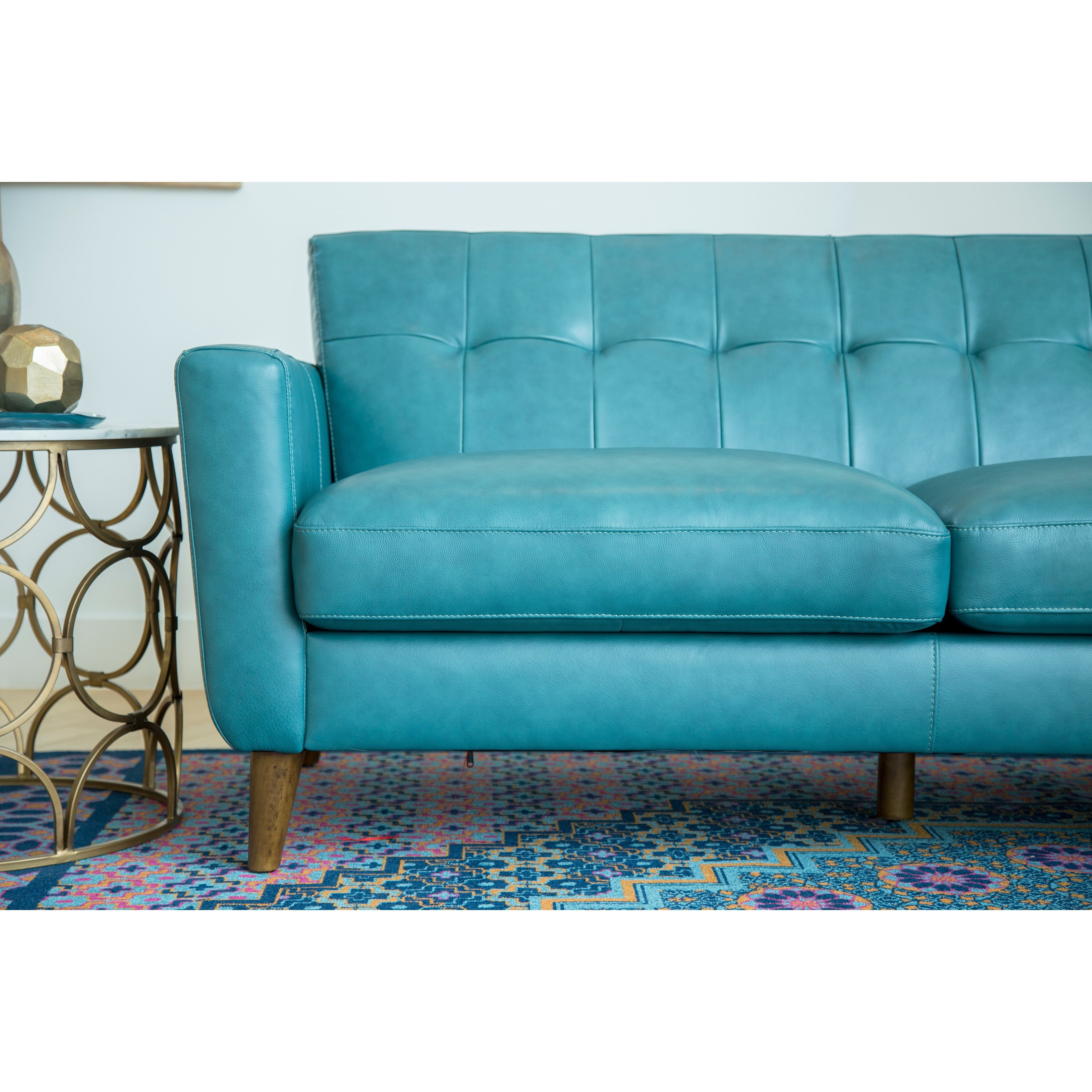Best Related Image Turquoise Sofa Blue Leather Sofa Leather 400 x 300