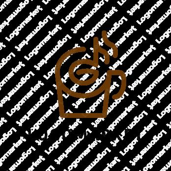 コーヒーと音楽 のロゴ 2020 ロゴマーク ロゴ 音楽のロゴ