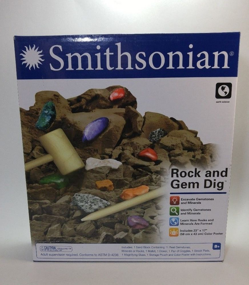 Smithsonian Rock and Gem Dig Science Kit Geology crystals