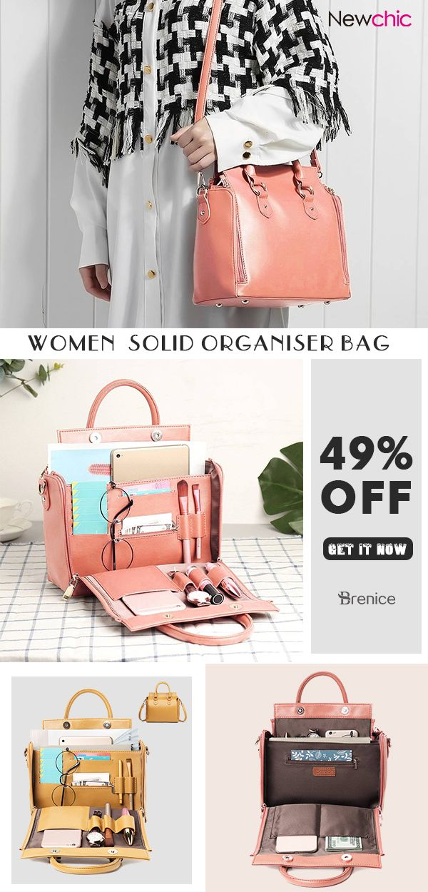 Women Solid Organizer Bag Multifunction Casual Shoulder Bag  bags   organizer  multifunction  solid  trendy eb0be5514d6fd