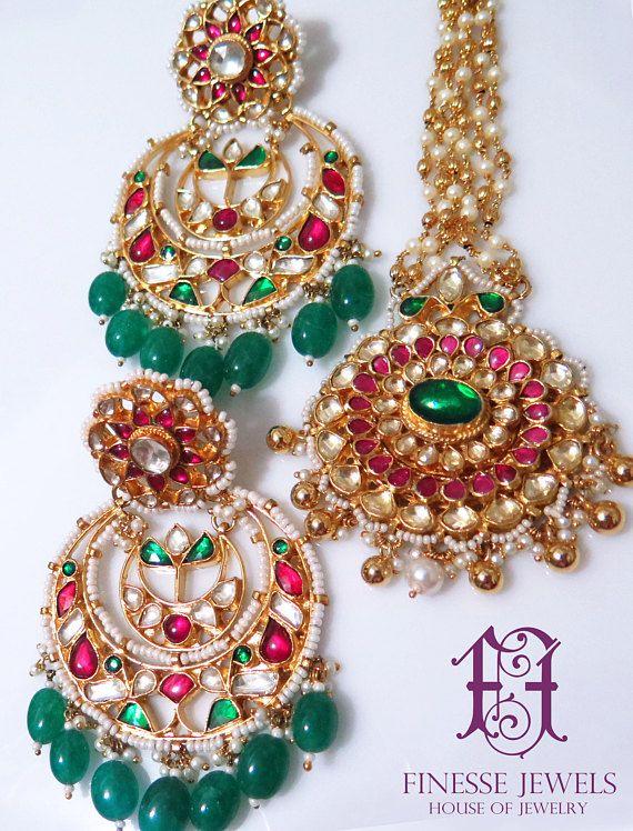 Royal Peacock earrings-Indian jewelry,Traditional earrings-Bollywood earrings,jhumka earring,indian bridesmaids jewelry,kundan earrings