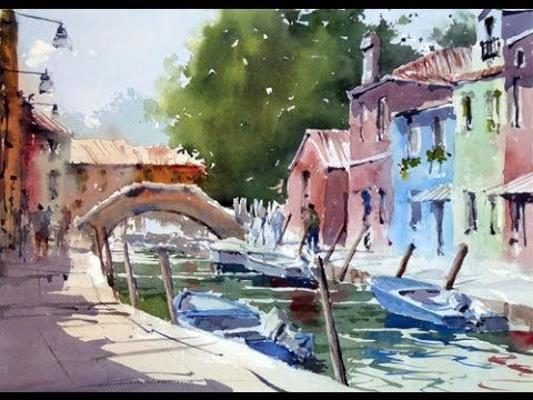 On Location In Burano Youtube Maltechniken Aquarell Landschaft