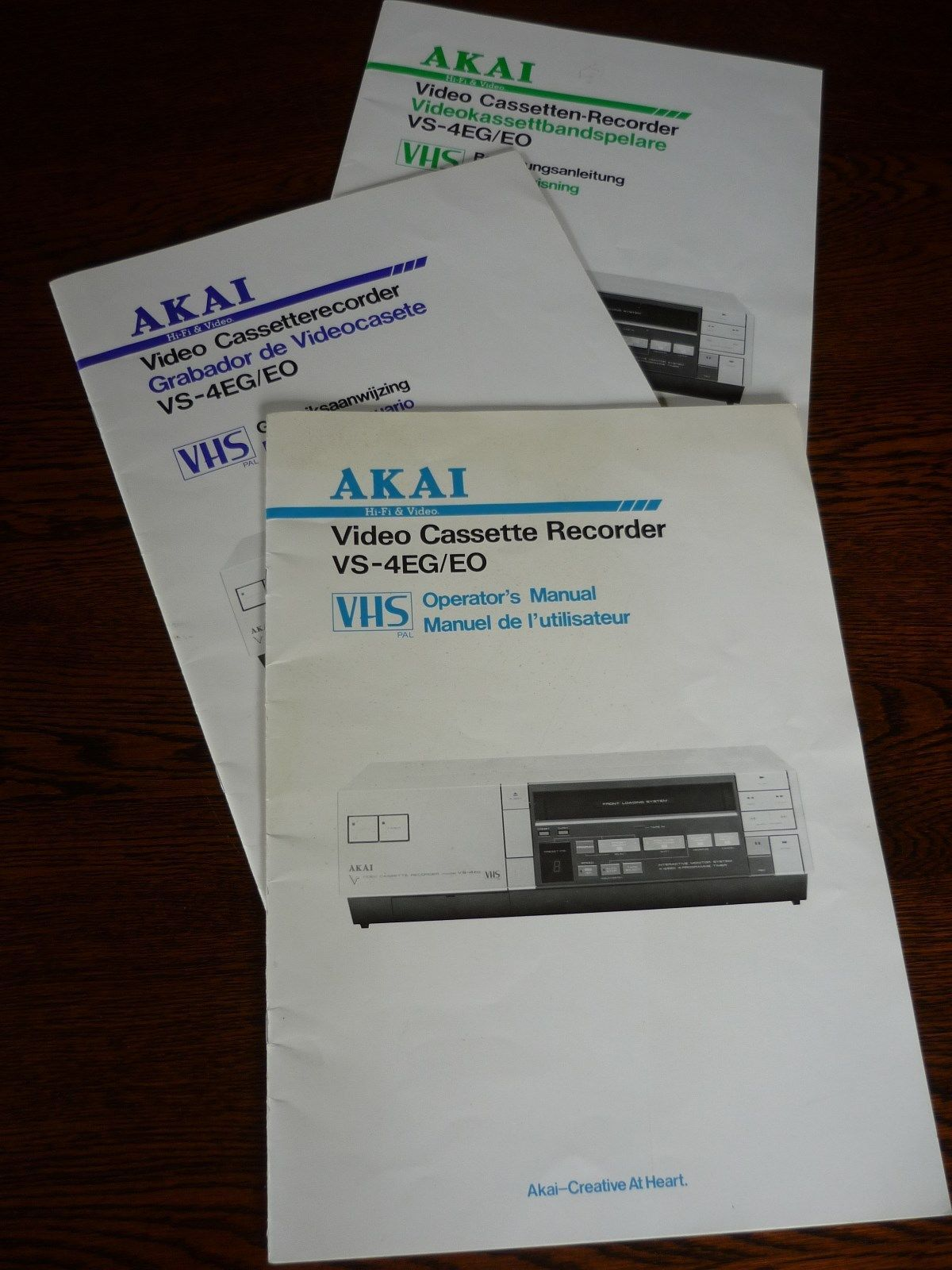 vintage akai vcr video cassette recorder vs 4eg faulty ebay rh pinterest co uk 3330 Old VCR Akai Sharp VCR