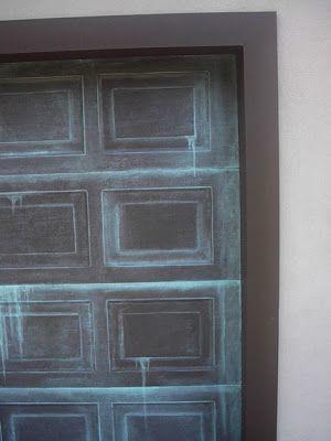 Garage Door Painted Like Patina Copper Garage Door Paint Garage Doors Garage Door Styles