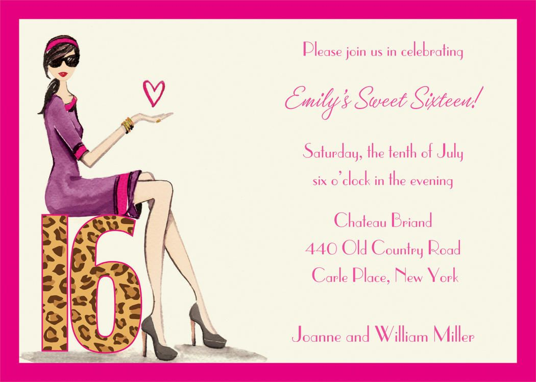 Free Sweet 16 Invitation Templates 1st In Wedding – Printable 16th Birthday Invitations