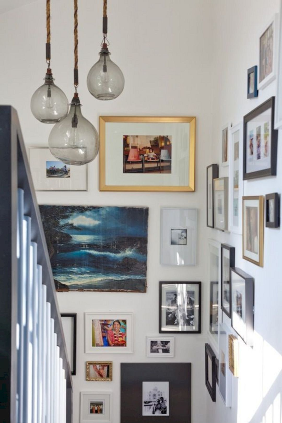 Arranging photos on a wall - 65 Awesome Arranging Pictures On A Stair Wall Ideas