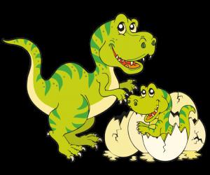 Una Familia De Tiranosaurio Rex Game Dibujo De Animales Tiranosaurio Animales