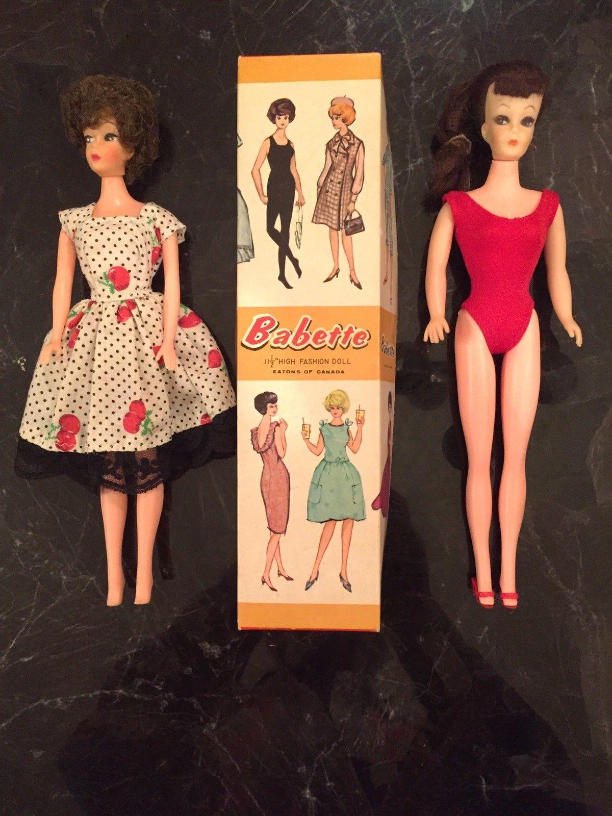 Rare 1950 S 1960 S Miss Babette Clone Barbie Doll Rare Box 2nd