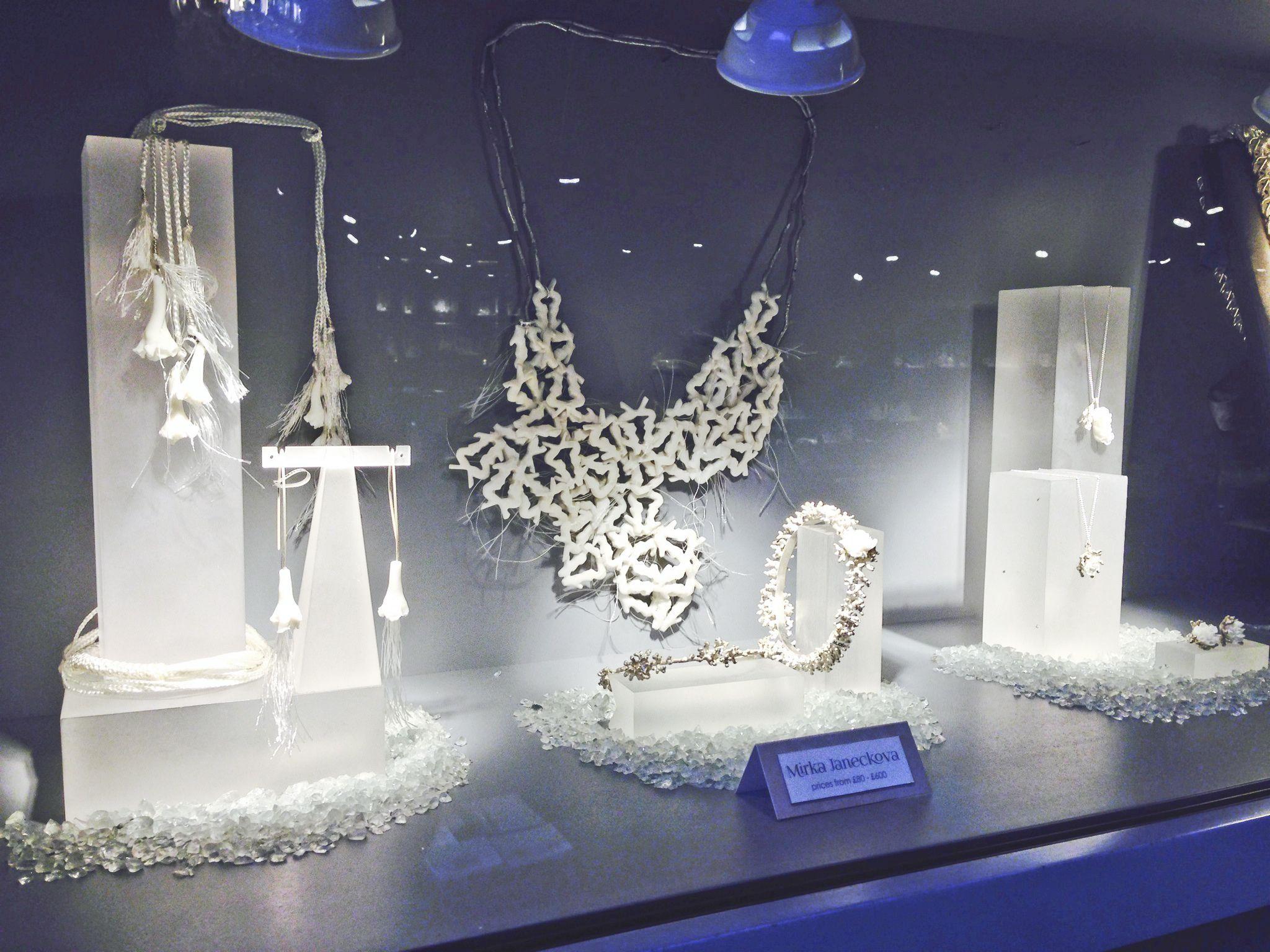 Window display ideas for jewelry  mirka janeckovaczuk jewellery