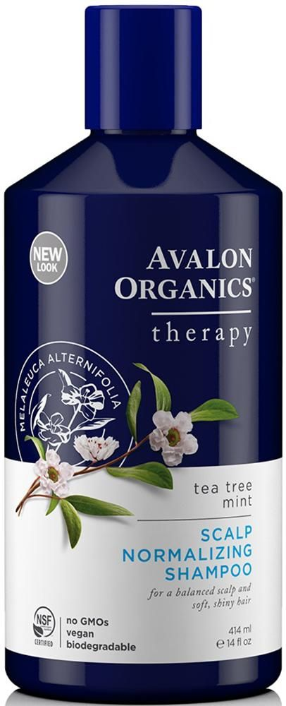 Avalon Organics Scalp Normalizing Shampoo Tea Tree Mint Therapy 14 Oz