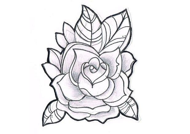 Sketsa Bunga Mawar Drawings Rose Drawing Rose Illustration