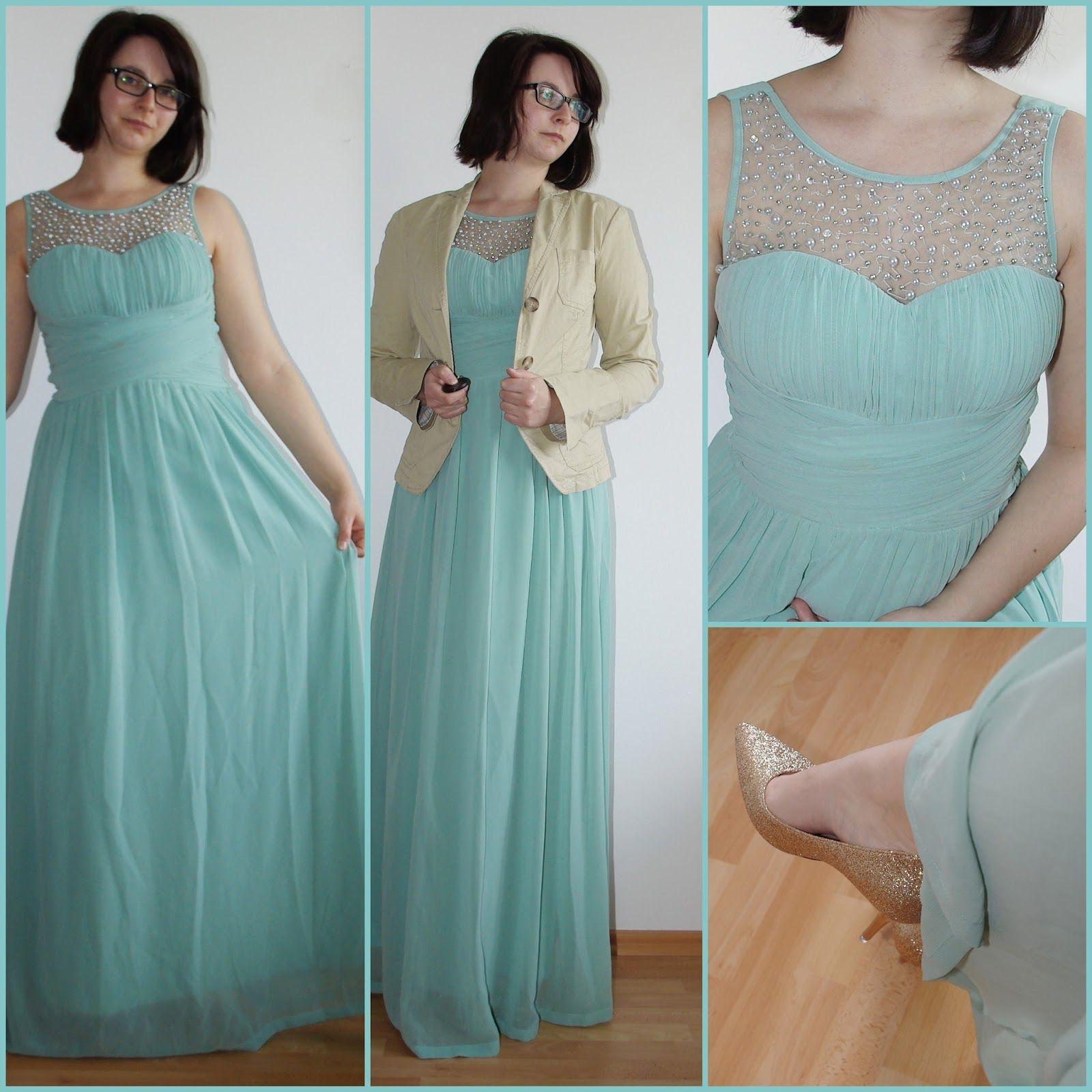 Fashion] Enchanted Embellished Mint Dress Mintfarbenes Abendkleid