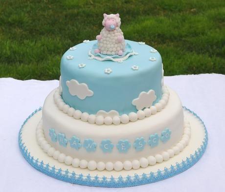 foto de torta battesimo bimbo a due piani Cerca con Google