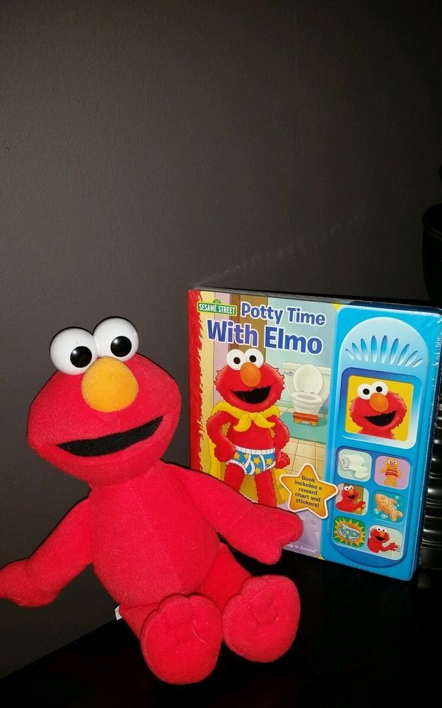 Potty Time with Elmo (Play-A-Sound)  Board Book and Elmo Plush Toy