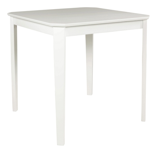 table carree l 75 lucie blanche table