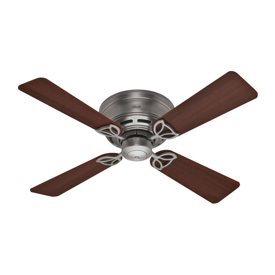 Shop Hunter 42 In Low Profile Iii Antique Pewter Ceiling Fan At