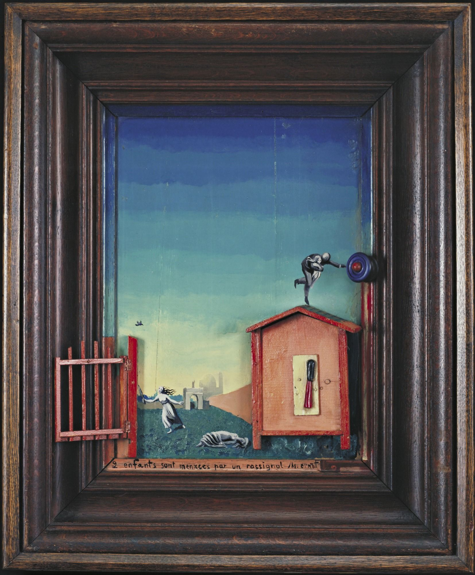 Max Ernst Two Children Are Threatened by a Nightingale 1924