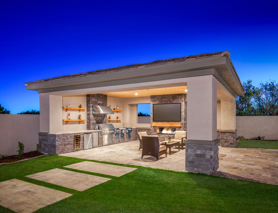 Saguaro Estates Is An Outstanding New Home Community In Scottsdale Az That Offers A Variety Of Luxu Patio Design Modern Outdoor Kitchen Backyard Patio Designs