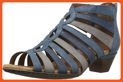 183fb1eabbc Rockport Cobb Hill Collection Women s Cobb Hill Abbott Gladiator Blue  Nubuck Sandal - Sandals for women ( Amazon Partner-Link)