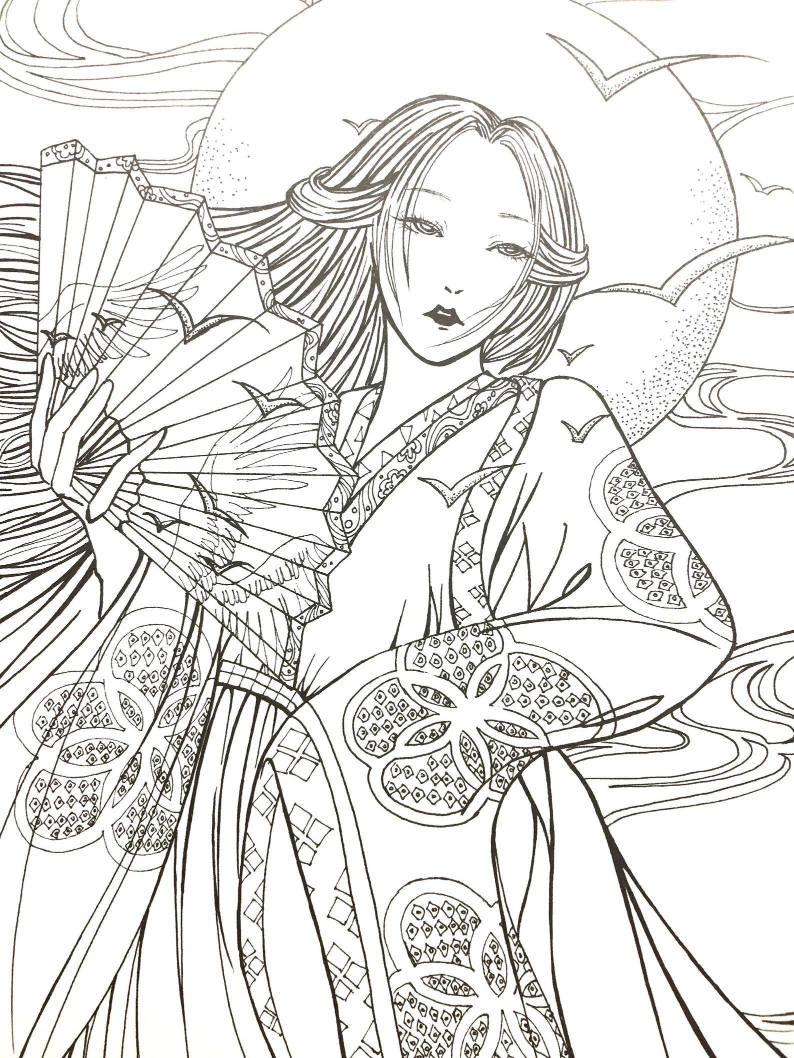 Rima De Flores Vol2 Libro Para Colorear Chino Para Adultos Etsy Coloriage Livre Coloriage Coloriage Manga