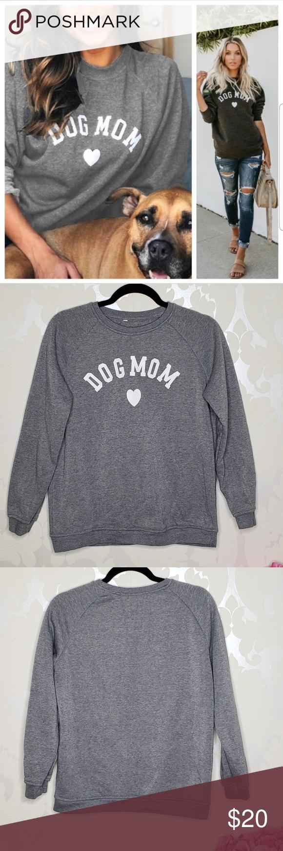 Dog Mom Dark Gray Crewneck Sweatshirt Sweater Szl Grey Crewneck Sweatshirt Sweater Crew Neck Sweatshirt [ 1740 x 580 Pixel ]