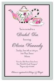 Wedding Afternoon Tea Invitation Wording