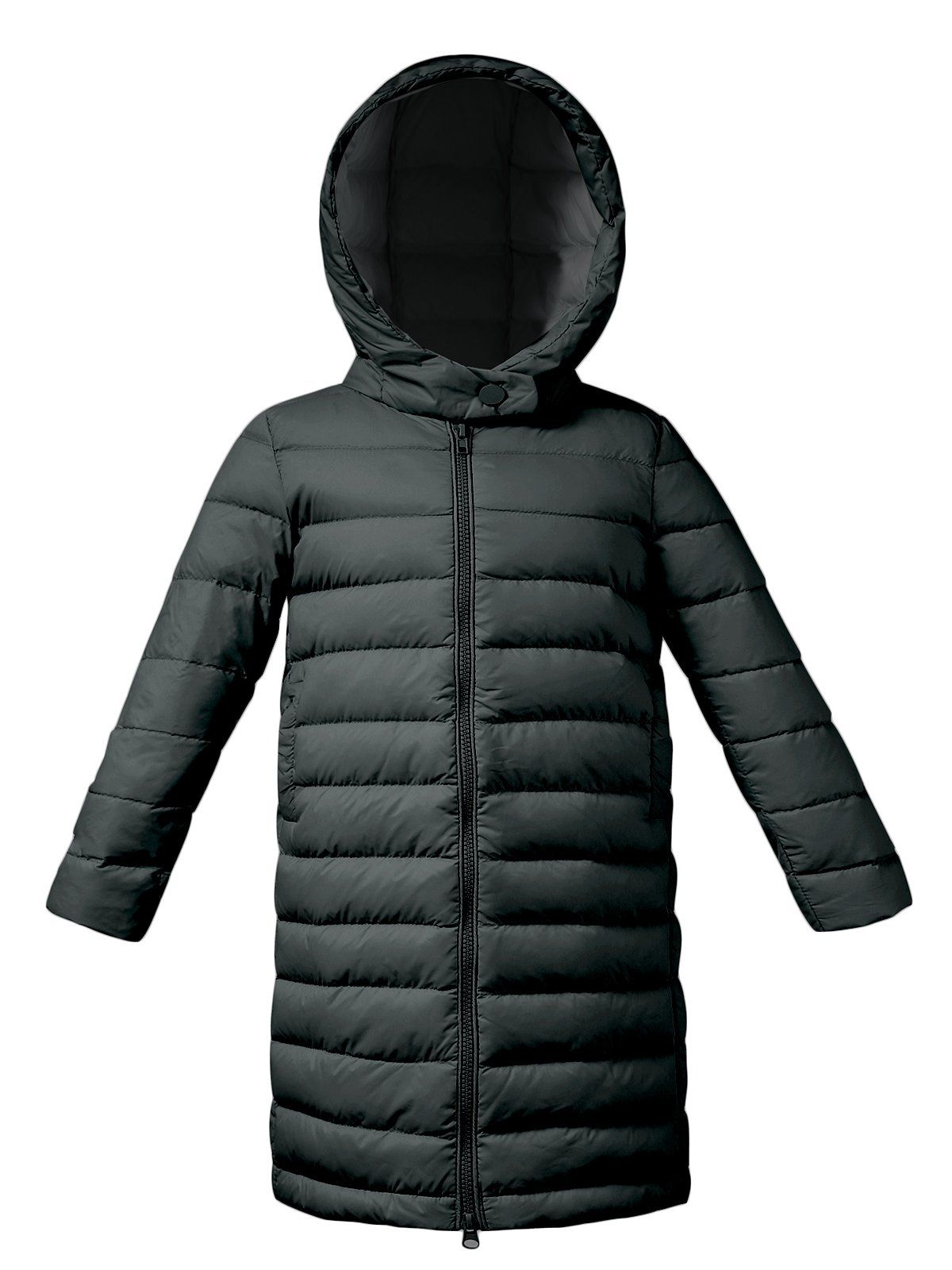 Zando Boys Kids Packable Outwear Ultra Light Down Jacket Long Sleeves Warm Padded Hooded Puffer Coat Black 6 6x High Qualit Puffer Coat Black Coat Down Jacket [ 1600 x 1200 Pixel ]