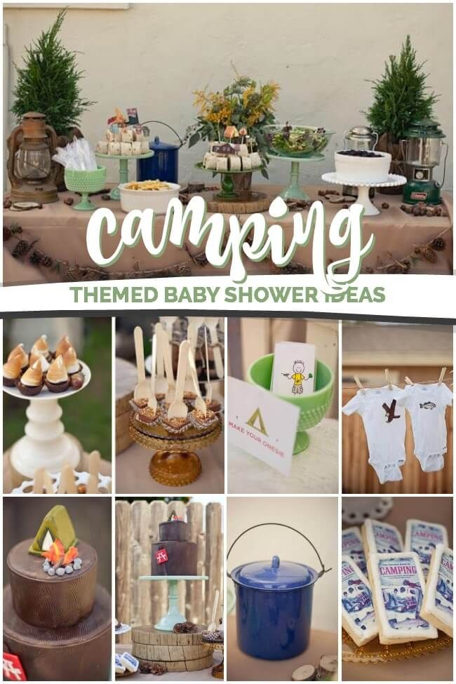 A Rustic Chic Boy S Camping Themed Baby Shower Boy Baby Shower
