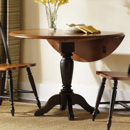Low Country Drop Leaf Pedestal Dining Table  Pedestal Country Fascinating Dining Room Tables Walmart Review