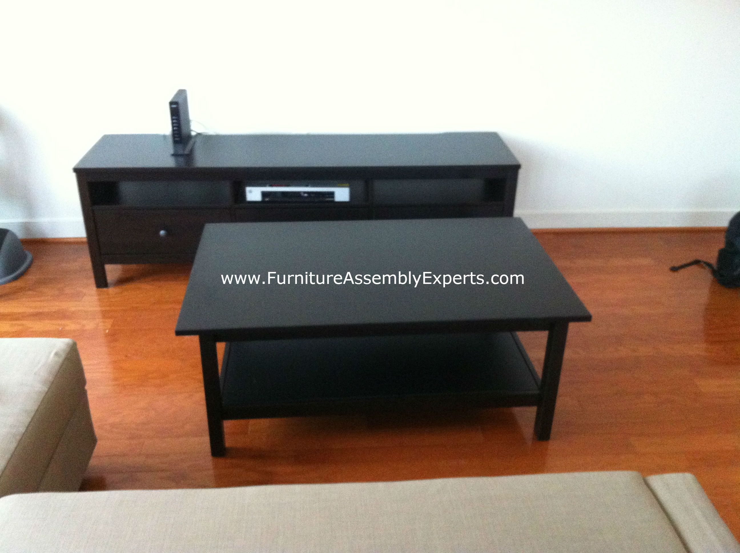 Ikea hemnes tv stand and lack coffee table assembled in - Ikea table tv ...