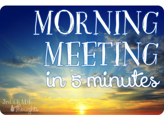 Morning Meeting in 5 Minutes