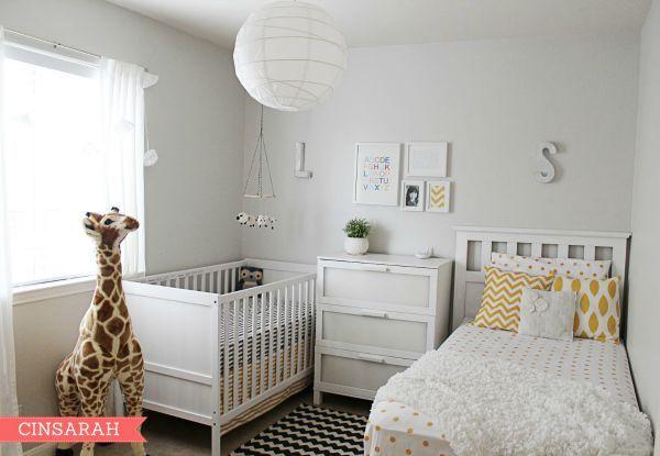 Habitaci n compartida con cama y cuna habitaci n for Ideas para decorar habitacion compartida nino nina