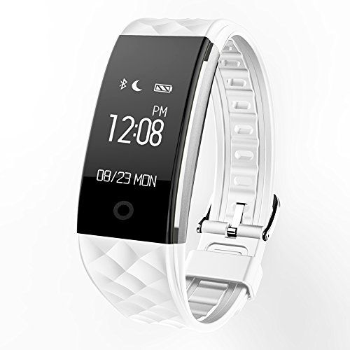 REDKINDER Fitness Tracker with Heart Rate Monitor Waterproof Smart Watch with BLED Touch Screen Bluetooth Sleep Monitor CallMSN Reminder Function Compatible IOSAndroid System White >>> Continue to the product at the image link.