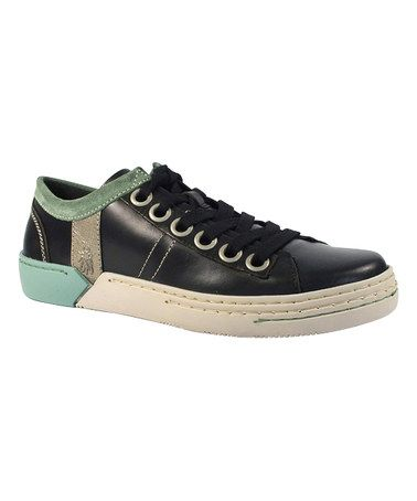 Another great find on #zulily! Black & Lead Seth Leather Lace-Up Shoe - Men #zulilyfinds