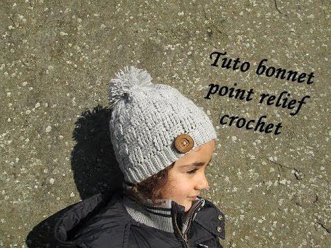 tuto bonnet point damier relief au crochet relief crochet hat gorro relieve tejido crochet. Black Bedroom Furniture Sets. Home Design Ideas