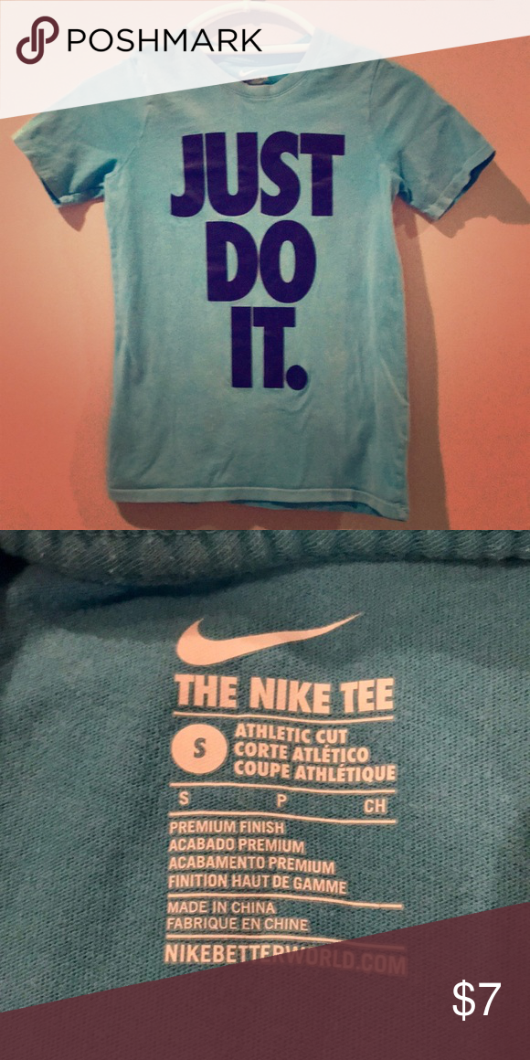 Boys Nike T Shirt Boys Nike Shirt Light Blue With Dark Blue Block Letters Size S 100 Cotton Smoke Free Closet Nike Sh Boys T Shirts Boys Nike Nike Shirts