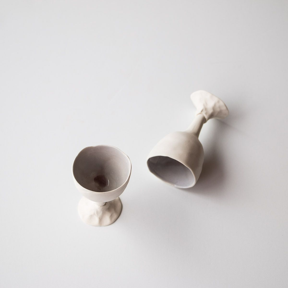 These delicate porcelain egg cups are handmade by ceramic artist egg cups are handmade by ceramic artist isabelle huot the very organic shape of these cups is directly inspired by nature perfect as gifts at easter negle Gallery