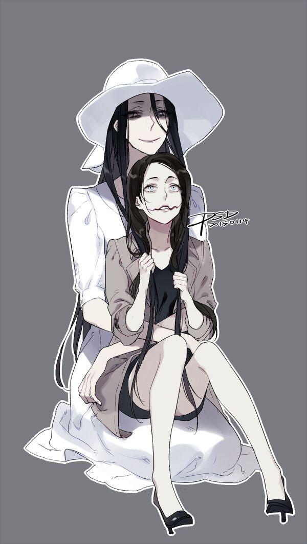 Hachishakusama and Kuchisake Onna, fan art by PSlenDy ...